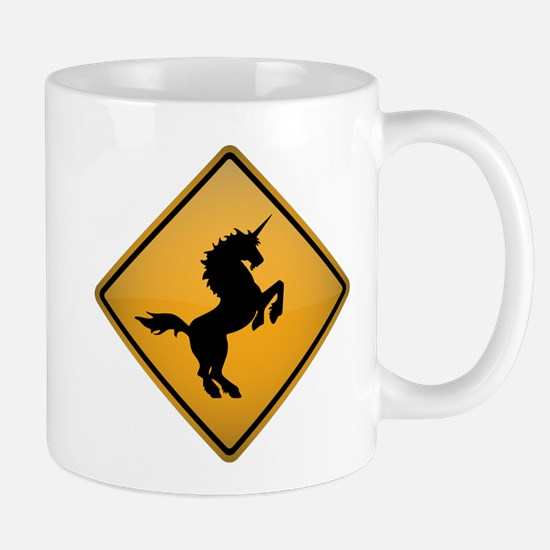 Unicorn Warning Sign Mug
