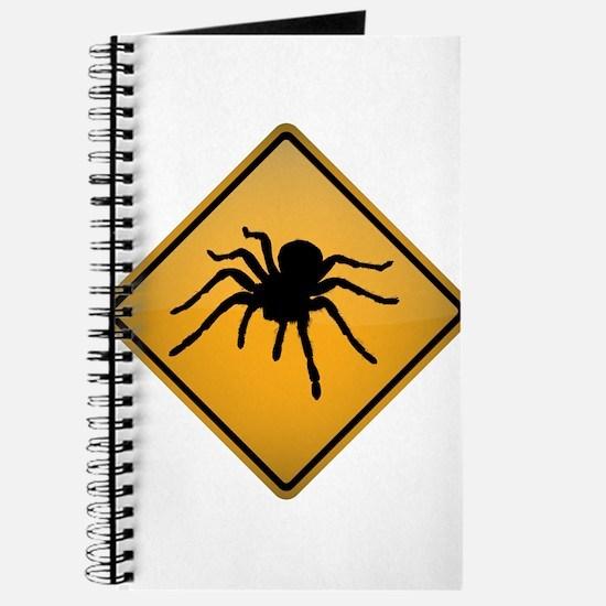 Tarantula Warning Sign Journal
