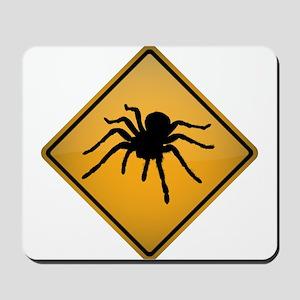 Tarantula Warning Sign Mousepad