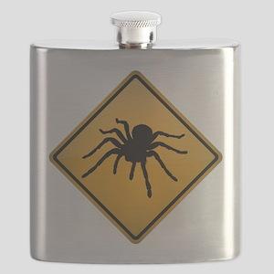 Tarantula Warning Sign Flask