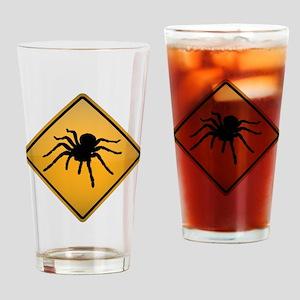 Tarantula Warning Sign Drinking Glass