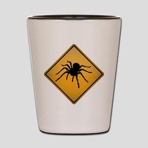Tarantula Warning Sign Shot Glass