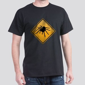 Tarantula Warning Sign Dark T-Shirt