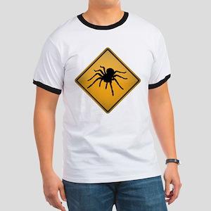 Tarantula Warning Sign Ringer T