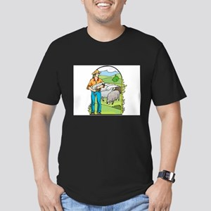 Sheep Men's Fitted T-Shirt (dark)