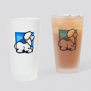Sheep Drinking Glass