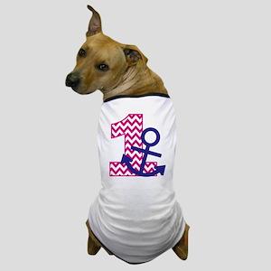 Girl's Anchor 1st Birthday Dog T-Shirt