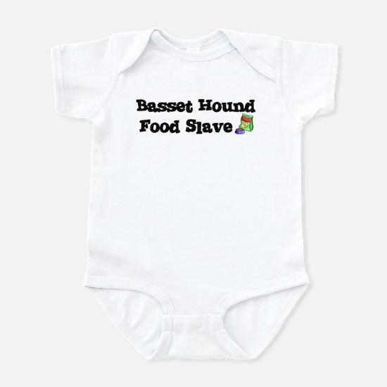 Basset Hound FOOD SLAVE Infant Bodysuit