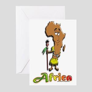 Africa Cartoon Greeting Cards (Pk of 10)