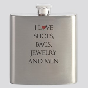 I love shoes, bags, jewelry and men. Flask