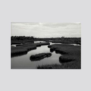 Marsh at Topsail Rectangle Magnet