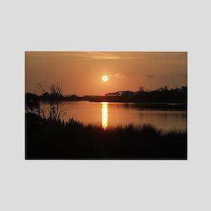 Sunrise over Marsh Rectangle Magnet