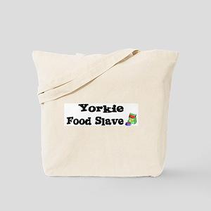 Yorkie FOOD SLAVE Tote Bag