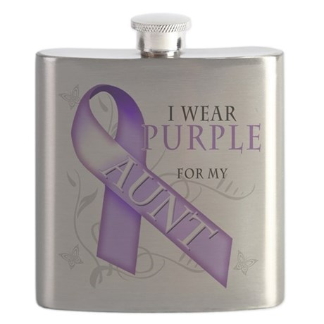 I Wear Purple for my Aunt Flask