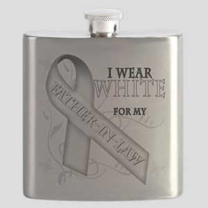 I Wear White for my Father-In-Law Flask