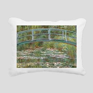 Monet Lily Pond Bridge Rectangular Canvas Pillow