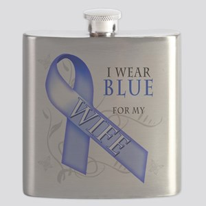 I Wear Blue for my Wife Flask