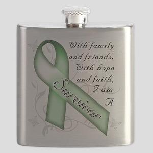 Kidney Cancer Survivor Flask