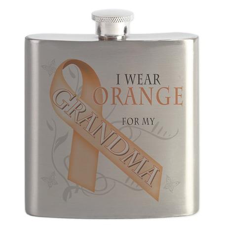 I Wear Orange for my Grandma.png Flask