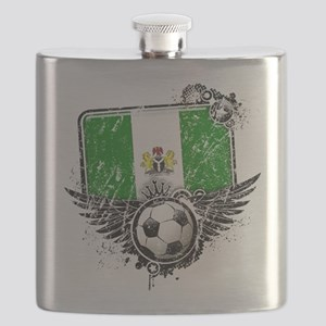 Soccer fan Nigeria Flask