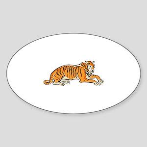 Tiger Sticker (Oval)