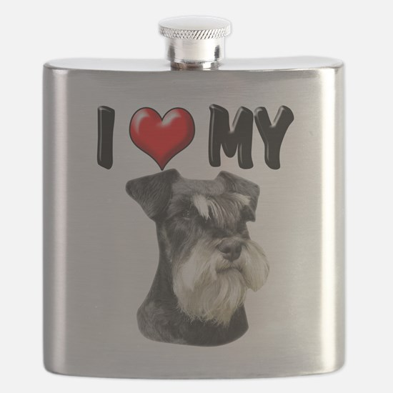 I Love My Miniature Schnauzer.png Flask