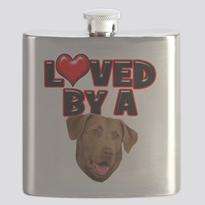 Loved by a Chesapeake Bay Retriever Flask