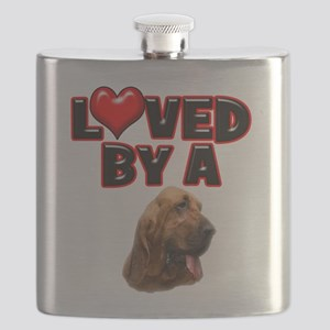 Loved by a Bloodhound Flask
