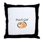 For cute Peach Girl Throw Pillow