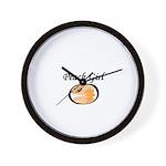 For cute Peach Girl Wall Clock