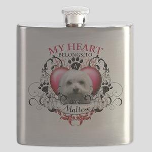 My Heart Belongs to a Maltese Flask