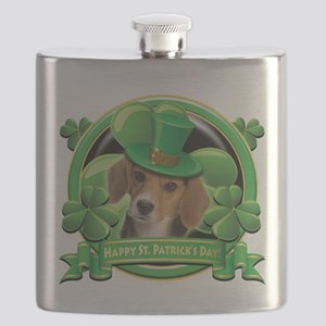 Happy St Patricks Day Beagle Flask