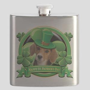 Happy St Patricks Day Beagle Flask