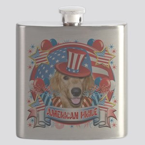 American Pride Golden Retriever Flask