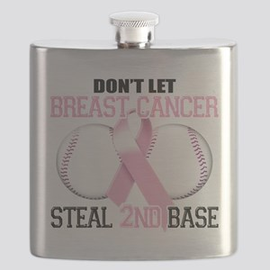 Dont Let Breast Cancer Steal 2nd Base Flask