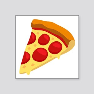 "Pizza Emoji Square Sticker 3"" x 3"""
