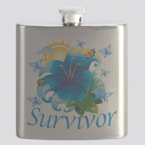 Survivor flower blue Flask