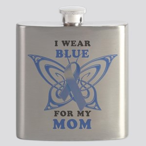 I Wear Blue for my Mom Flask