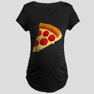 Pizza Emoji Maternity Dark T-Shirt