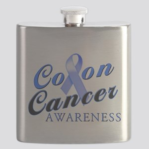 Colon Cancer Awareness Flask