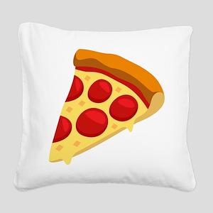 Pizza Emoji Square Canvas Pillow