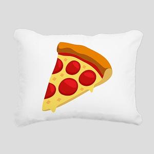 Pizza Emoji Rectangular Canvas Pillow