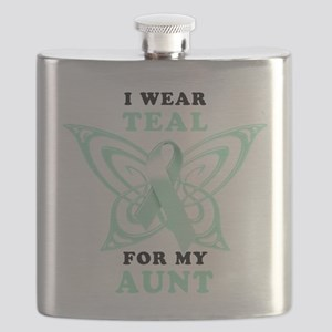I Wear Teal for my Aunt Flask