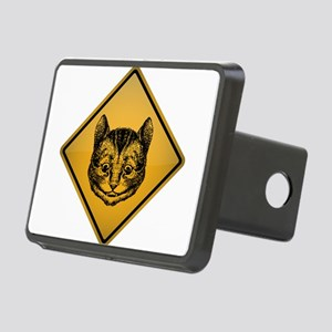 Cheshire Cat Warning Sign Rectangular Hitch Cover