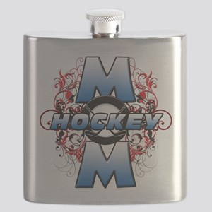 Hockey Mom (cross) Flask