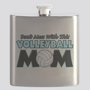 Volleyball Mom Flask
