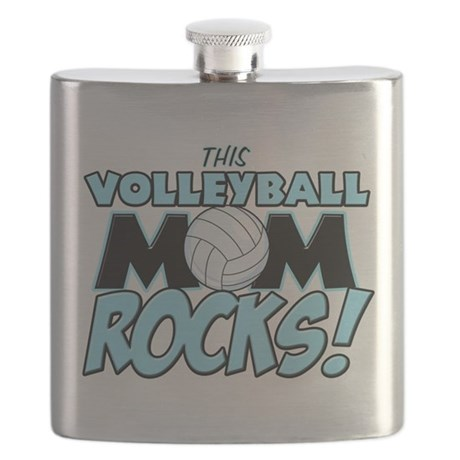 This Volleyball Mom Rocks.png Flask