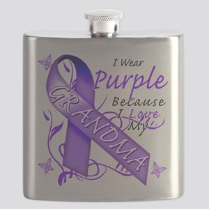 I Wear Purple Because I Love My Grandma Flask