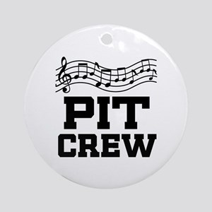 Pit Crew Marching Band Ornament (Round)