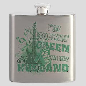 Im Rockin Green for my Husband Flask